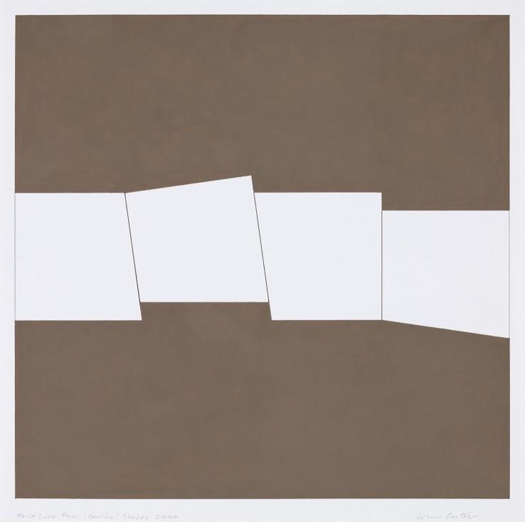 John Carter  Fault Line: Four Identical Shapes, 2009  Acrylic gouache on paper  33 x 32.7 cm