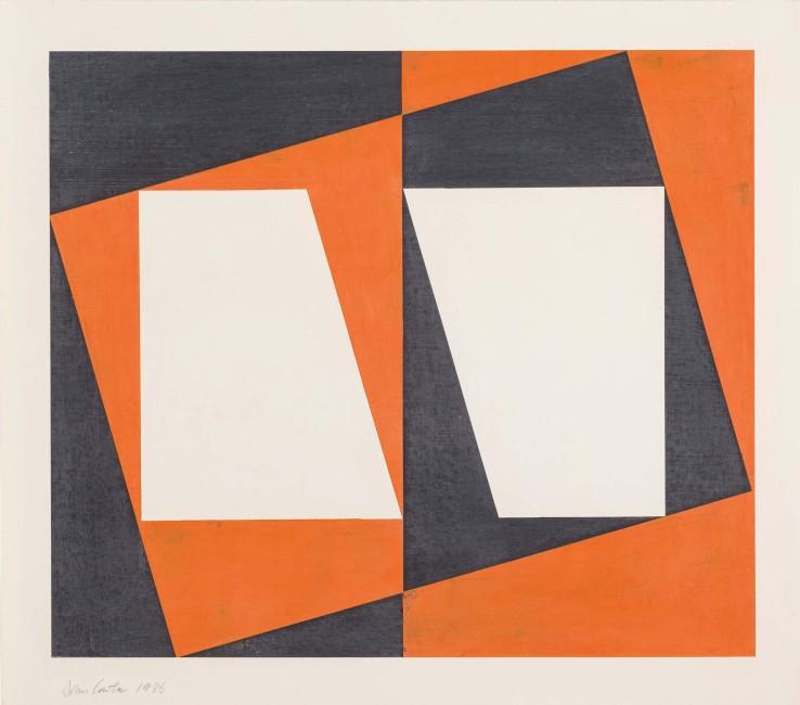 John Carter  Corner Variant, 1986  Acrylic on paper  45 x 77.7 cm