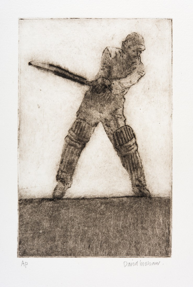 David Inshaw  Mark Batting, 2010  Etching on perspex  23 x 15 cm  AP  Signed