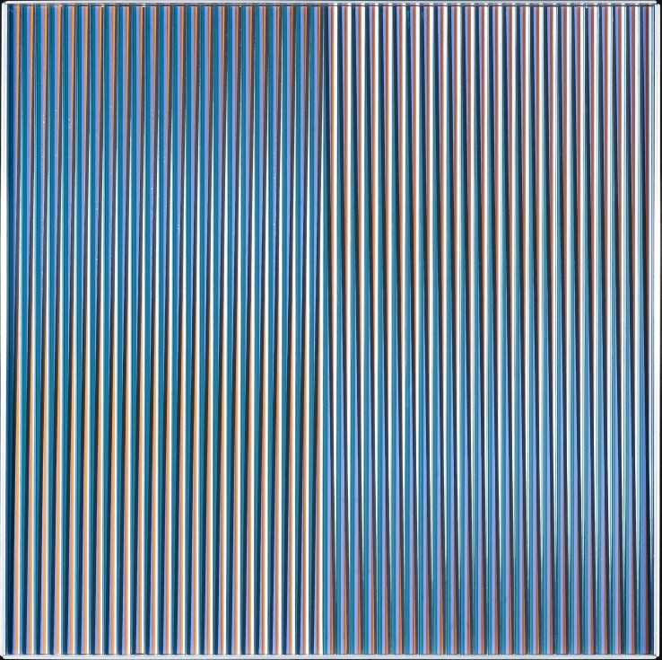 Carlos Cruz-Diez  Physichromie 1114, 1978  Acrylic on panel with plastic elements and aluminium frame  50 x 50 cm