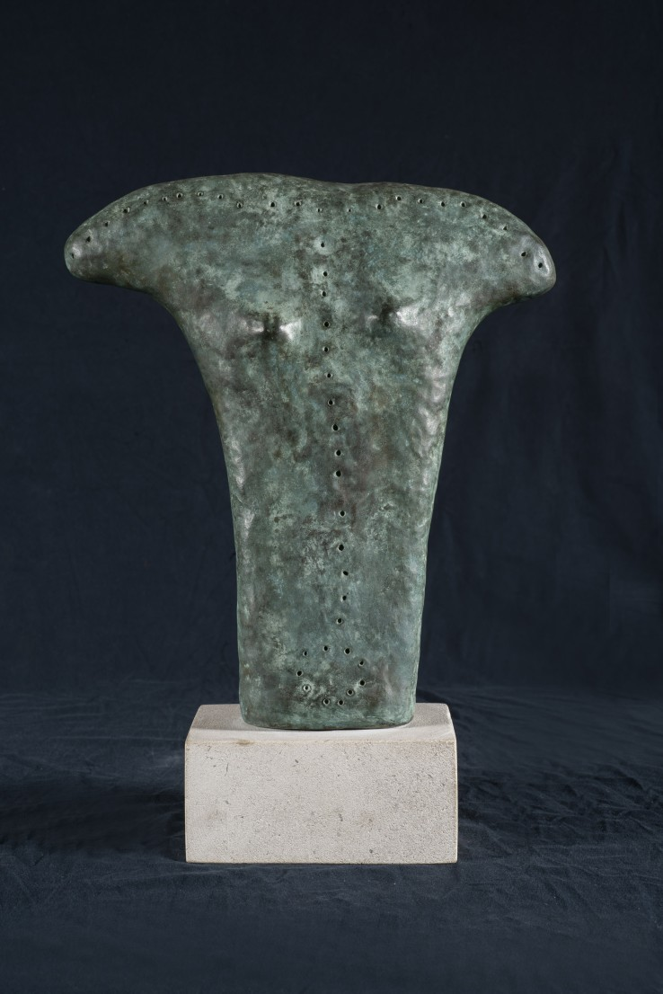 William Turnbull  Axehead Torso , 1979  Bronze  33.5 x 30.5 x 5.7 cm  AC from an edition of 9