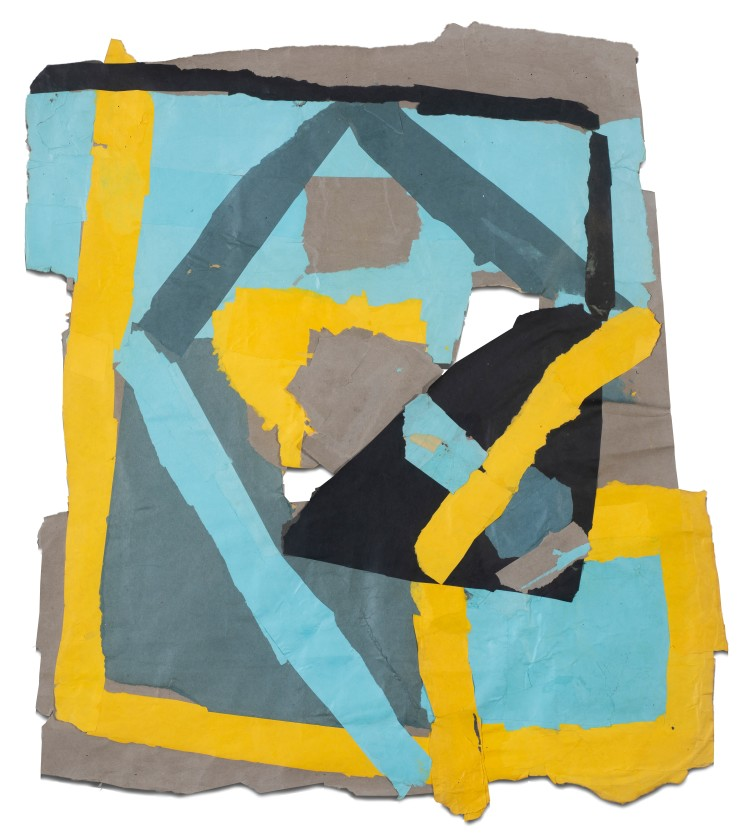 Francis Davison  G 61 (Bright yellow and blue), c.1978-83  Collage