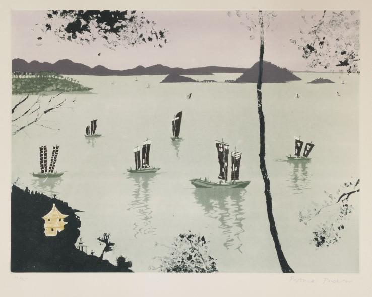 Patrick Procktor  Lake Tai-Hu, Wusih, 1980  Aquatint  45.4 x 60.1 cm