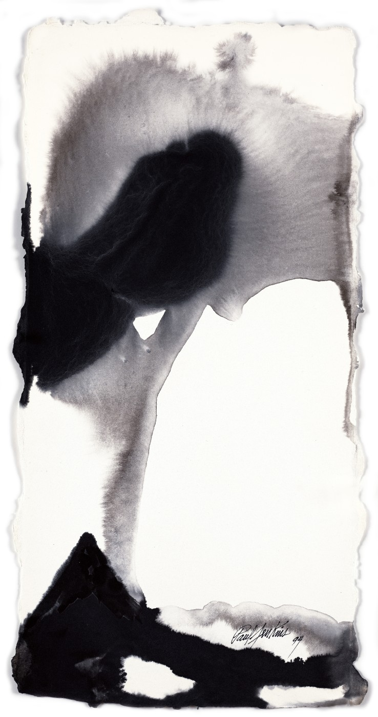 Paul Jenkins  Untitled , 1994  Ink on paper  58.7 × 29.2 cm