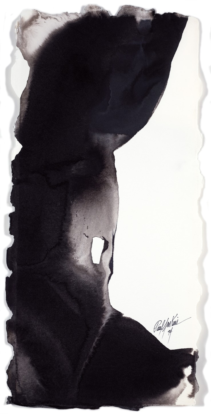 Paul Jenkins  Untitled, 1994  Ink on paper  58.1 × 27.6 cm