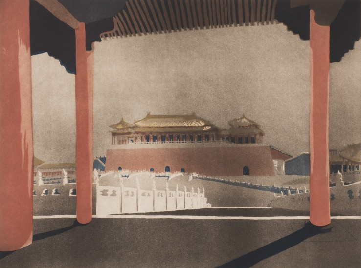 Patrick Procktor  Forbidden City, Peking, 1980  Aquatint  45.3 x 60 cm  Edition of 75  Signed