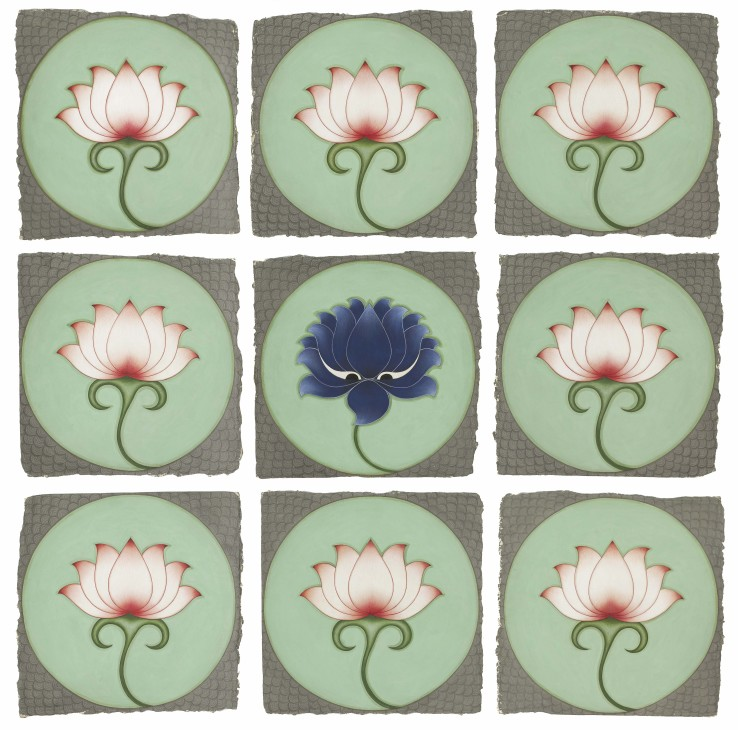 Olivia Fraser  Blue Lotus , 2020  Giclée print on Epson enhanced matt paper  Image size: 63.5 x 63. 5 cm  Sheet size: 73.7 x 73.7 cm