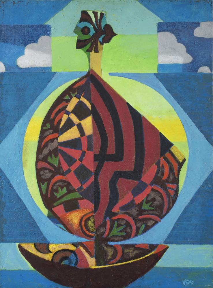 Eileen Agar  The Cockle Shell, 1982  Acrylic on canvas  61 x 45.5 cm