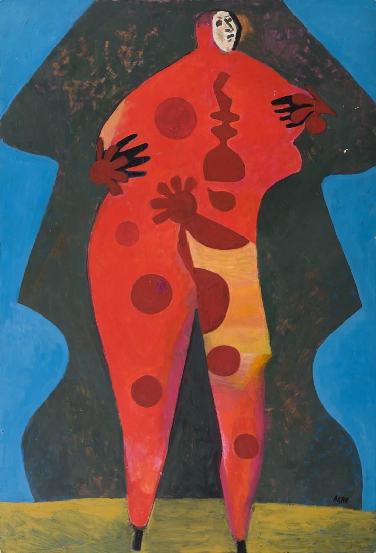 Eileen Agar  Red Peril, 1983  Acrylic on board  78.7 x 53.3 cm