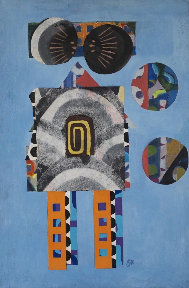 Eileen Agar  Robotics , 1978  Acrylic on canvas  61 x 40.6 cm