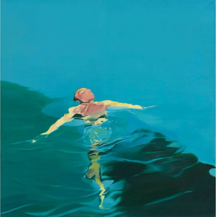 "Neil Stokoe  Floating Figure II, 1970  Oil on Canvas  182.8 cm x 182.8 cm (72.0"" x 72.0"")"