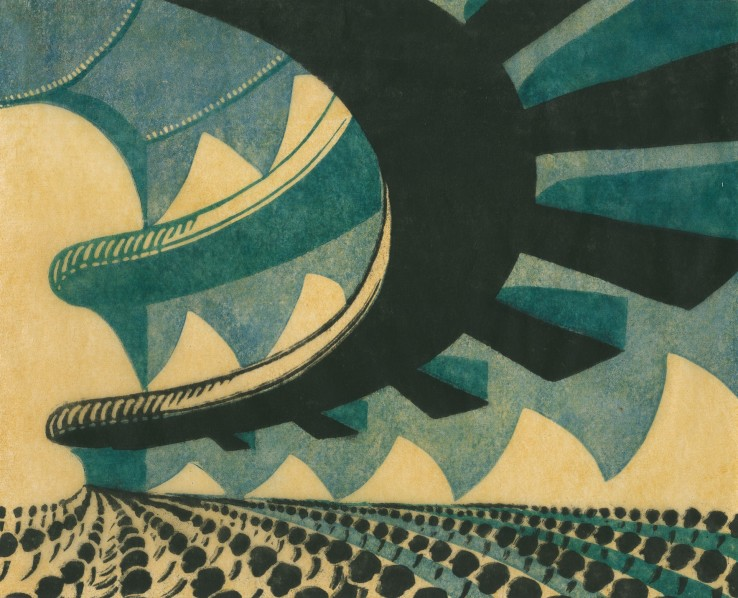 Sybil Andrews  Concert Hall, 1929  Linocut  23.6 cm x 28 cm  From the edition of 50 impressions  Signed and numbered in pencil upper left