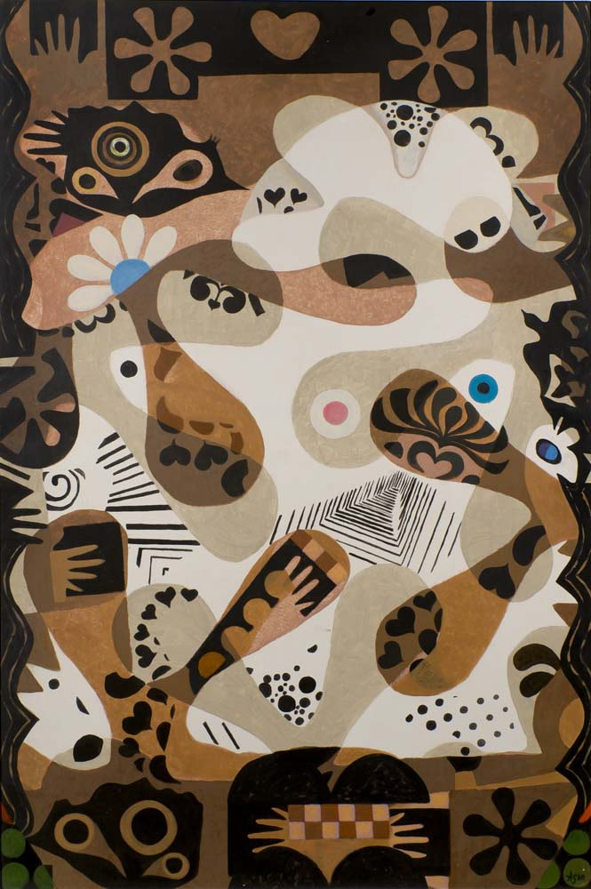 Eileen Agar RA  Muscles of the Imagination, 1969  Acrylic on canvas  152 x 101.5 cm  Signed lower right; signed and dated verso
