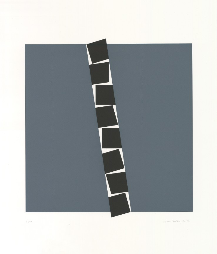 John Carter RA  Eight Identical Shapes 82º, 2012  Screenprint  71 x 60 cm  Numbered 9/40  Signed numbered and dated