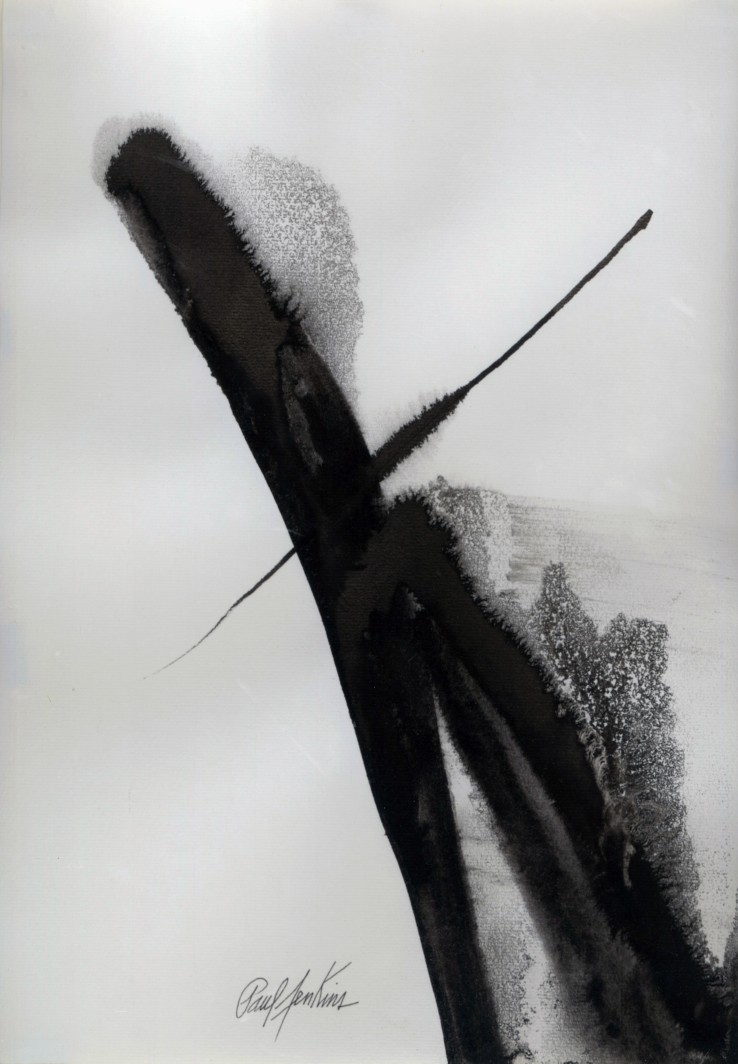 Paul Jenkins  East Wind, 2007  Chinese ink on paper  40.5 x 29.7 cm  Signed