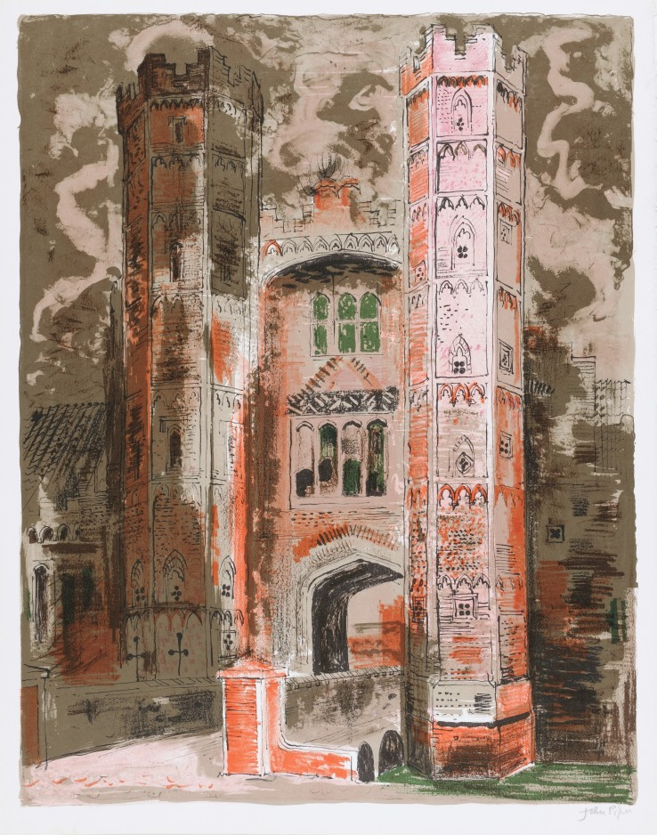John Piper  Oxburgh Hall, Norfolk, 1977  Lithograph  57.5 x 44.2 cm  From the edition of 120 impressions  Signed