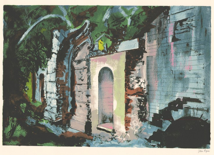 John Piper  Cascade Bridge, Halswell, 1987  Signed  Screenprint  46.2 x 67.8 cm  From the edition of 70 impressions plus 20 proofs.