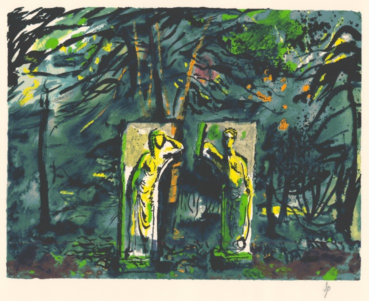 John Piper  Ceres and Proserpine , 1990  Signed in pencil  Etching and aquatint  42 x 55.5 cm  From the edition of 70 impressions plus 20 proofs