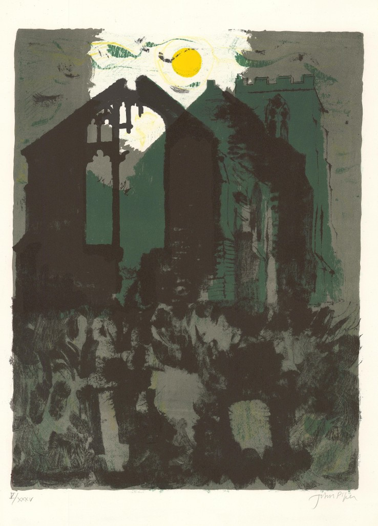 John Piper  Wiggenhall, St Peter, 1975  Lithograph  55 x 42 cm  From the edition of 75 impressions plus 35 APs  Signed and numbered