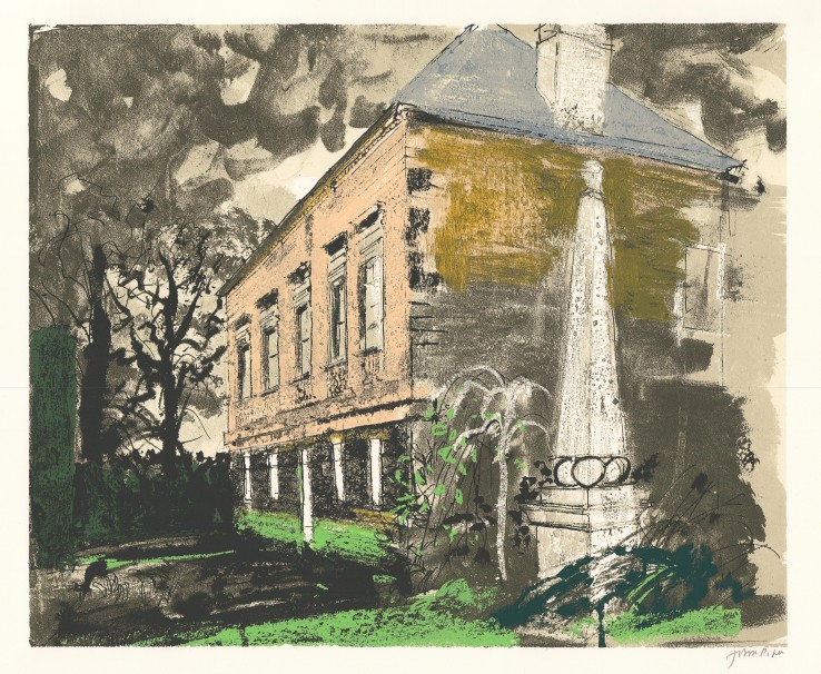 John Piper  St. Helen Hall , 1981  Signed  Screenprint  58.4 x 70.5 cm  An artist's proof from the edition of 70 impressions plus 20 proofs.