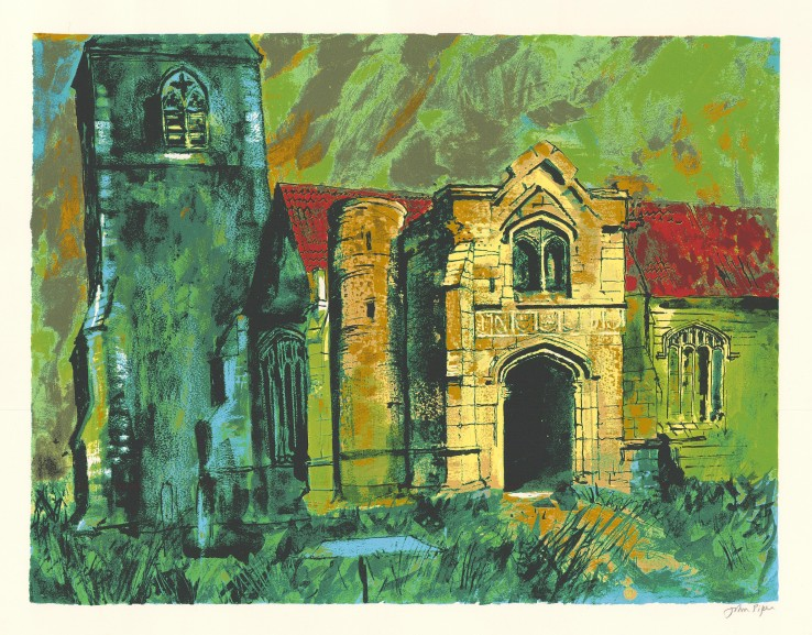 John Piper  Holme, Nottingham , 1985  Signed  Screenprint  50 x 65 cm  From the edition of 70 impressions plus 20 proofs.