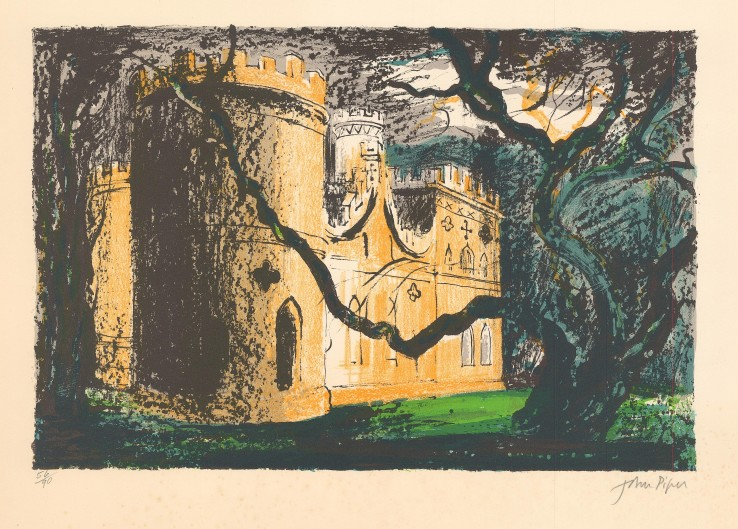 John Piper  Clytha Castle , 1976  Signed  Lithograph  36.9 x 48.5 cm  Numbered 56/90 from the edition of 90 impressions plus 12 proofs.