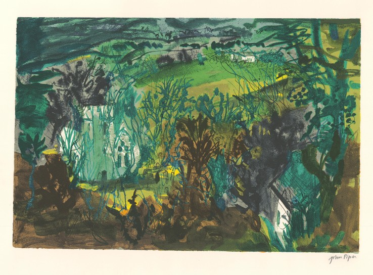 John Piper  Clydey, Pembrokeshire , 1984  Unsigned  Screenprint  38.1 x 56.4 cm  From the edition of 70 impressions plus 15 proofs.