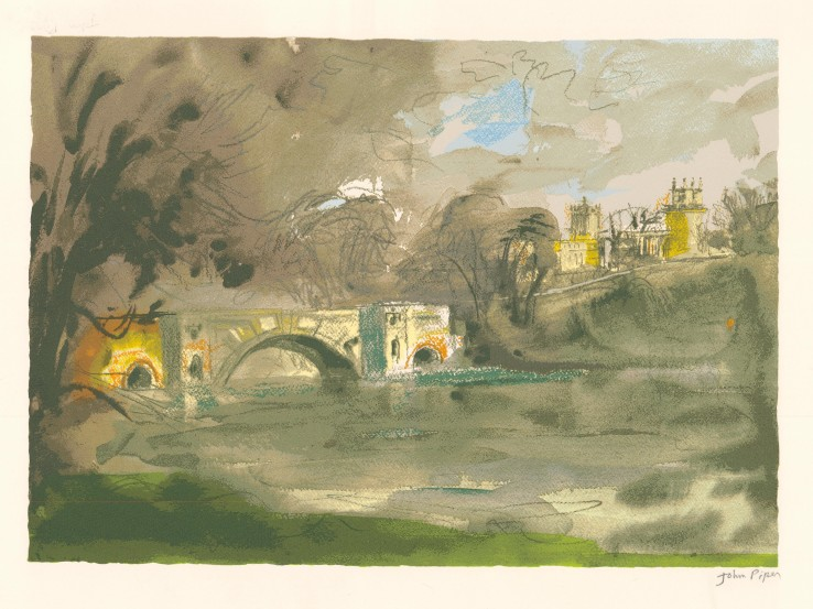 John Piper  Blenheim Bridge , 1988  Unsigned  Screenprint  42 x 60 cm  This an unnumbered proof from the edition of 100 impressions plus 19 proofs