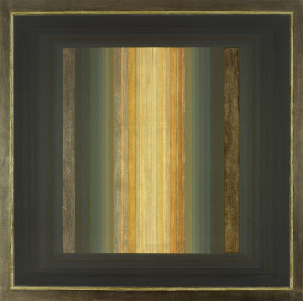 Paul Feiler  Janicon LIX, 2002  Oil, gold and silver leaf, and gessoed board on canvas laid on wood  142 x 142 cm  Signed, dated and titled verso