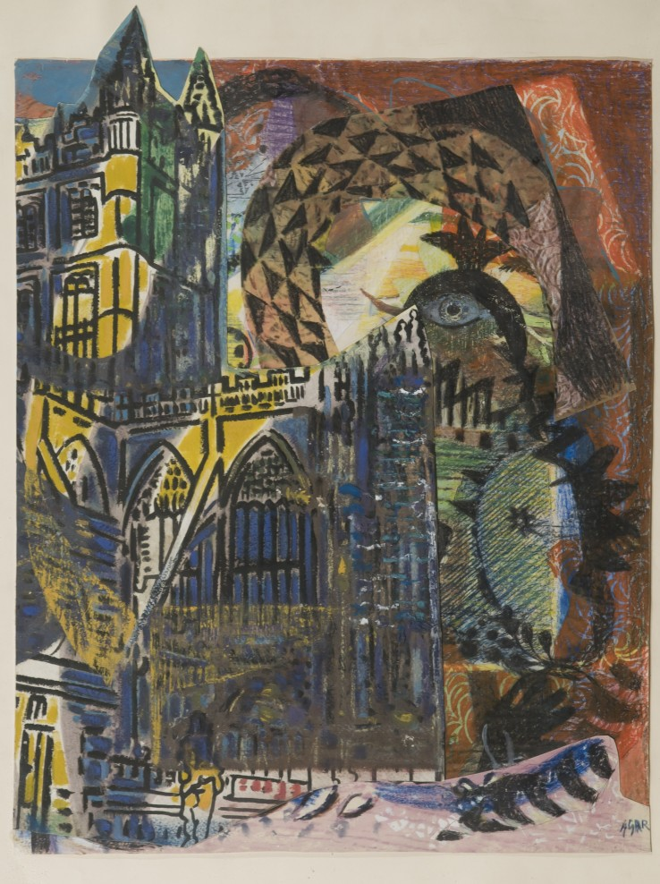Eileen Agar  Untitled (Cathedral)  Mixed media and collage  54 x 40.8 cm
