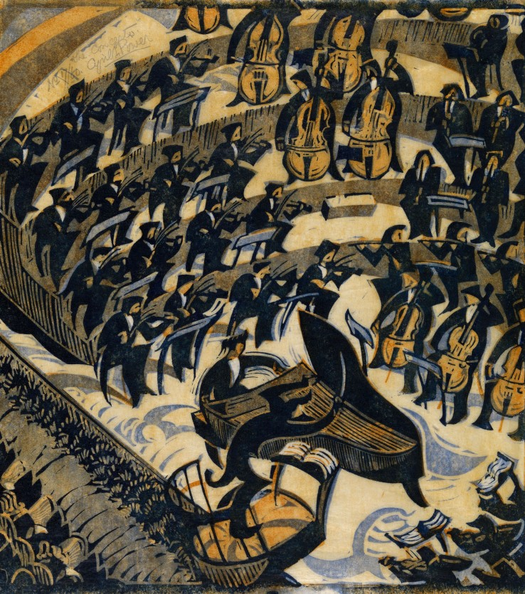 Cyril Edward Power  The Concerto, 1935  Linocut  32 x 30 cm  From the edition of 60 impressions  Signed, numbered, and titled upper left