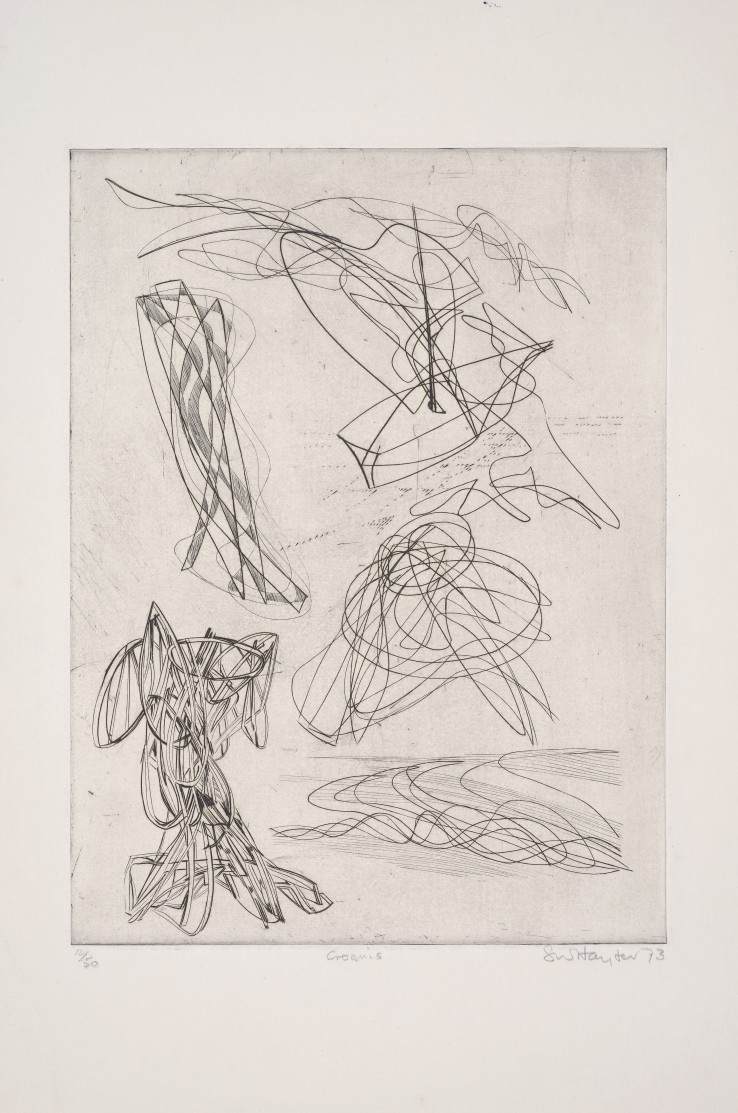 Stanley William Hayter  Croquis, 1973  Engraving  39 x 29.5 cm  Numbered 12 from the edition of 50 impressions  Signed, dated, titled and numbered