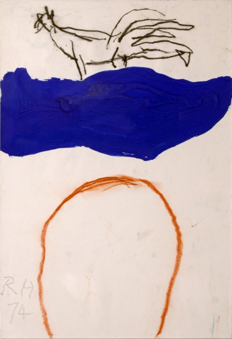Roger Hilton  Untitled, 1974  Paint, pastel, and pencil, on paper  29.5 x 20.5 cm