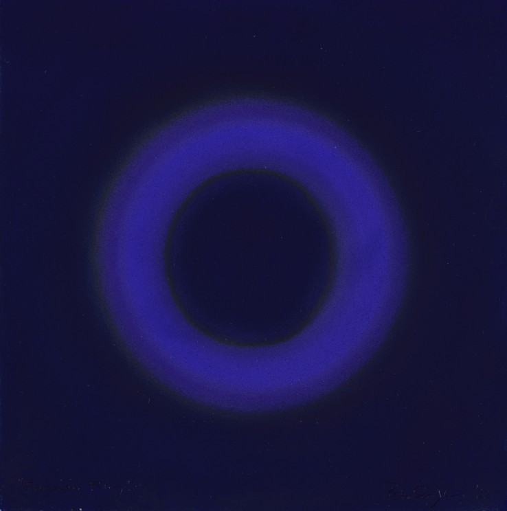 Peter Sedgley  Prussian Ring, 1966  Acrylic on paper  25 x 25 cm