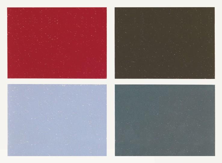 Jean Spencer  Untitled (Red/Black/Blue/Green), 1990  Pastel on paper  27 x 38 cm