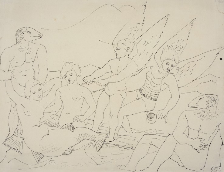 Christopher Wood  The Mermaid, 1927  Pen and ink on paper  46 x 61 cm