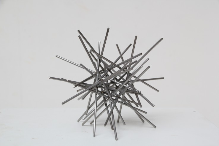Norman Dilworth  Random Elements, 1972/2003  Stainless steel  16 x 16 x 16 cm