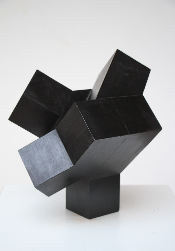 Norman Dilworth  4 x 2 ½ 8, 2008  Wood stained black  40 x 40 x 40 cm