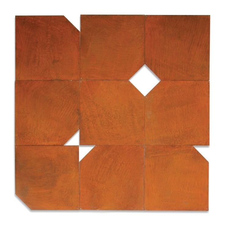 Norman Dilworth  Turning the Corner, 2000  Corten steel  89 x 89 cm