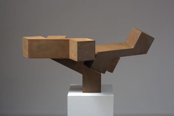 Norman Dilworth  Balance, 2014  Corten steel  94 x 68 x 40 cm