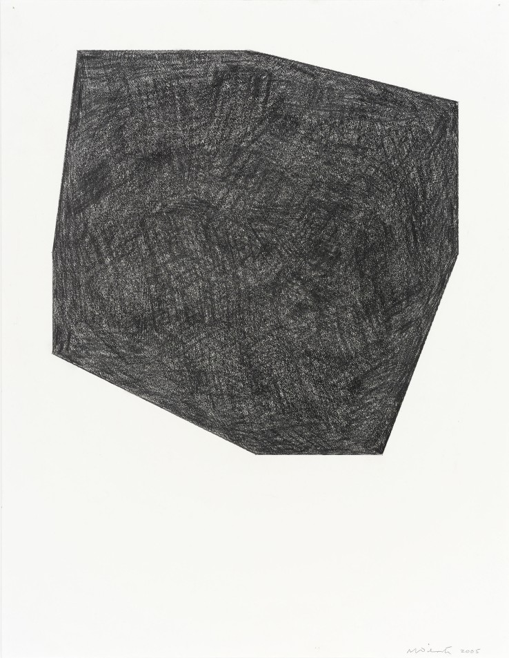 Norman Dilworth  Cut Corners 1, 2005  Graphite on paper  65 x 50 cm  Signed and dated lower right