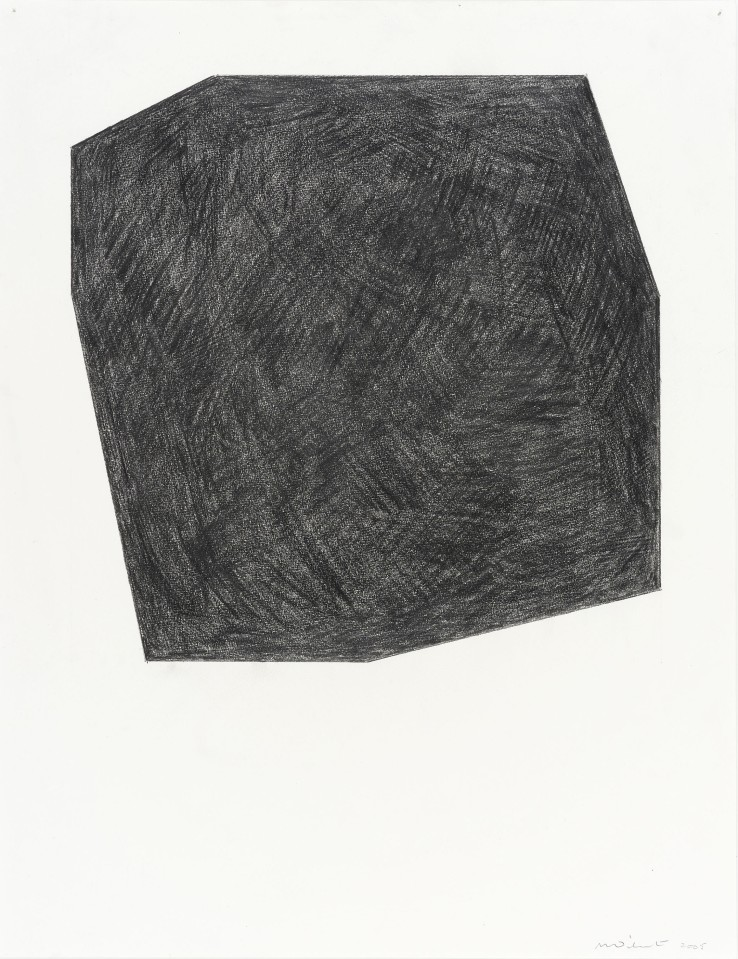 Norman Dilworth  Cut Corners 2, 2005  Graphite on paper  65 x 50 cm  Signed and dated lower right