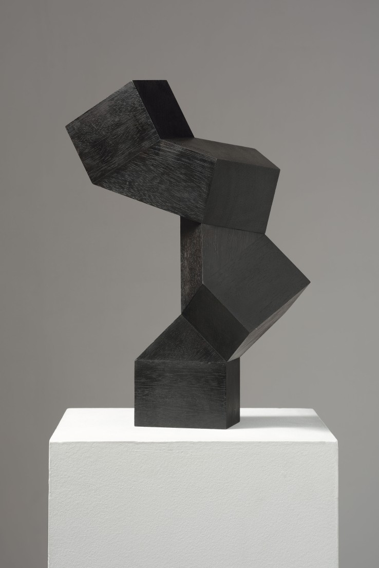 Norman Dilworth  45º 7, 2008  Wood stained black  39 x 27 x 16 cm