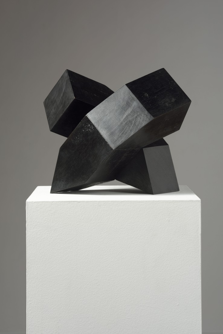 Norman Dilworth  Nub No. 9, 2013  Wood stained black  30 x 25 x 18 cm