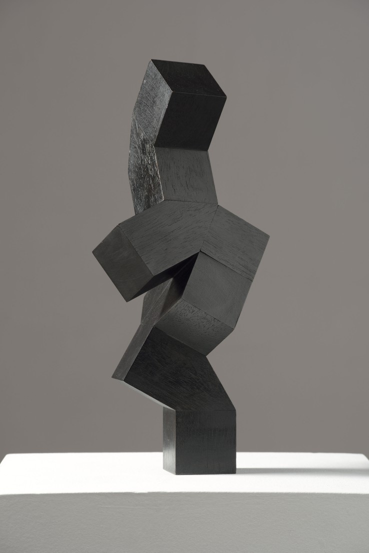 Norman Dilworth  2 and 2, 1997  Wood stained black  32 x 13 x 13 cm