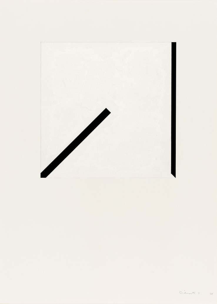 Norman Dilworth  Two Areas Overlap 7, 1978  Gouache on paper  80 x 54 cm  Signed and dated lower right