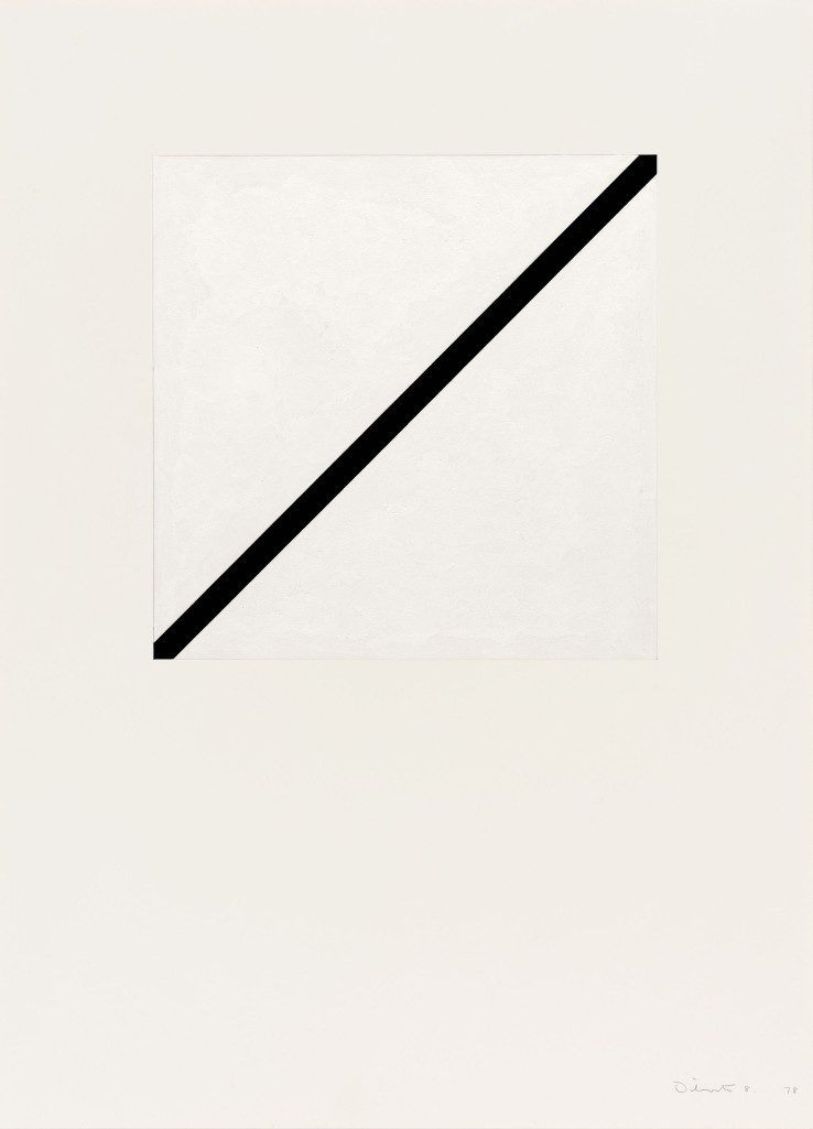 Norman Dilworth  Two Areas Overlap 8, 1978  Gouache on paper  80 x 54 cm  Signed and dated recto