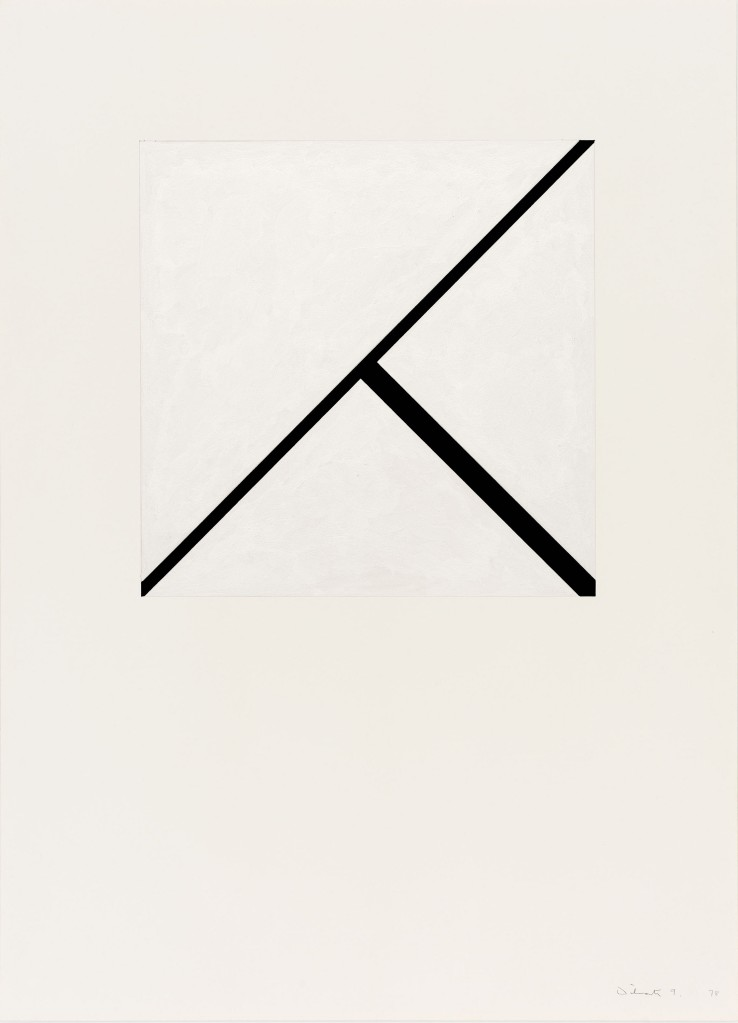 Norman Dilworth  Two Areas Overlap 9, 1978  Gouache on paper  80 x 54 cm  Signed and dated recto