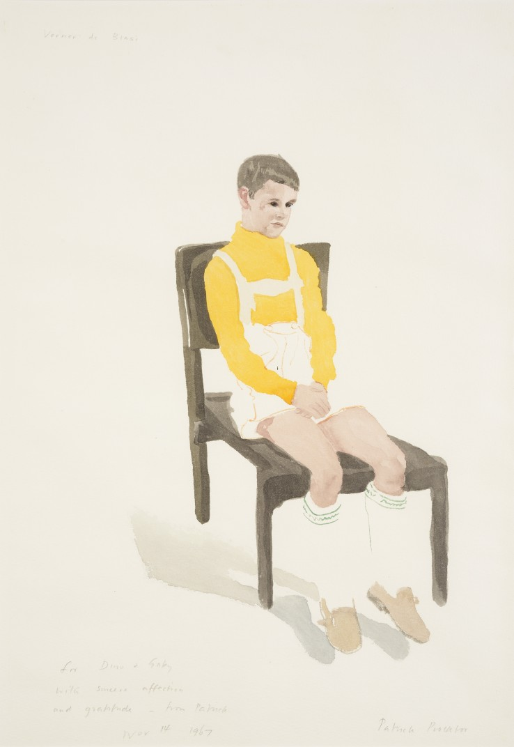 Patrick Procktor RA  Verner de Biasi, 1967  Watercolour on paper  50 x 34 cm