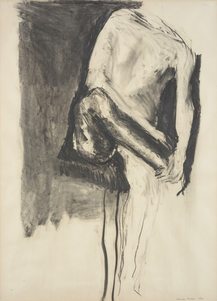 Patrick Procktor RA  Knee, 1964  Charcoal  76 x 55.2 cm  Signed and dated '2/64' lower right